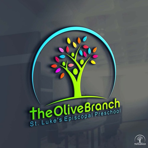 Create a clean, whimsical and youthful logo for The Olive Branch Episcopal Preschool!