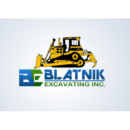 logo for blatnik excavating
