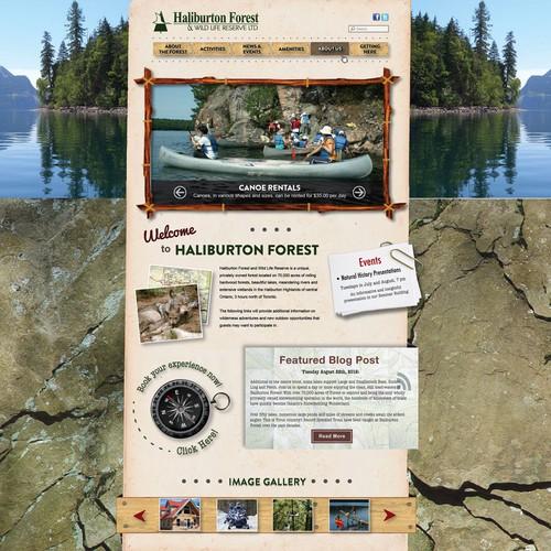 Haliburton Forest website Redesign