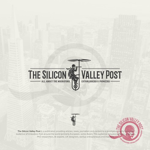 "Design a prestigious logo for our publication ""The Silicon Valley Post"""