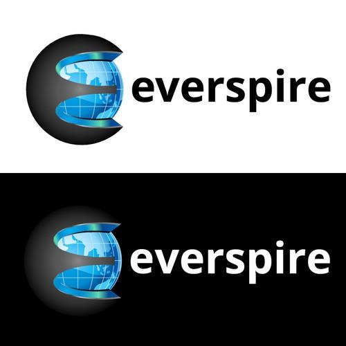 Social media platform Everspire logo design