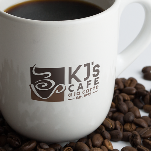 Logo concept for a gourmet espresso bar company