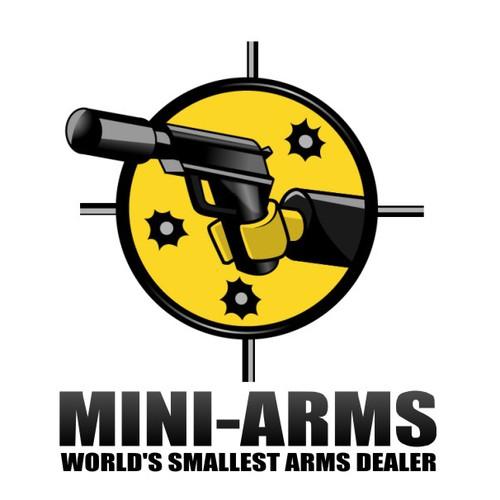 "LEGOs & Guns: design logo for Mini-Arms.com the ""World's Smallest Arms Dealer"""
