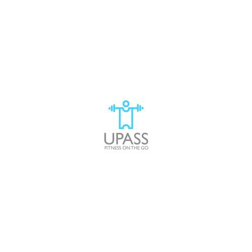 Creative, minimal fitness logo