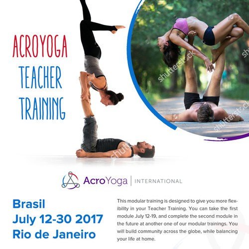 Acroyoga flyer design