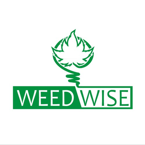 Simplistic clean logo design for weed-wise alberta
