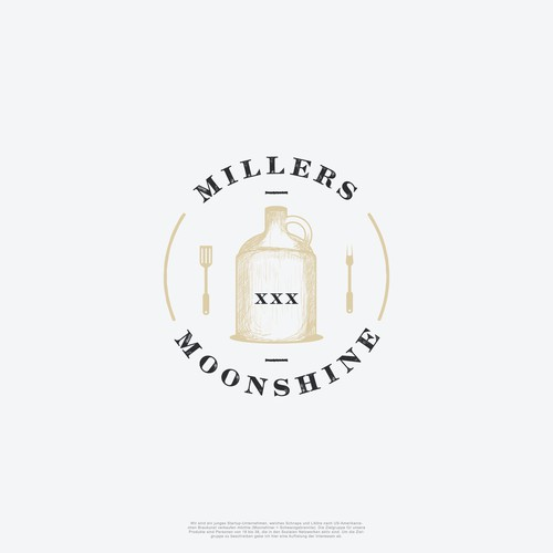 Circle logo for Millers Moonshine XXX