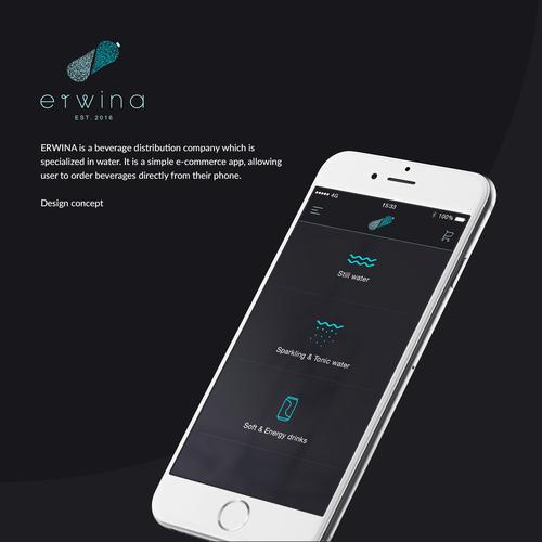 Erwina App Design - Black Version