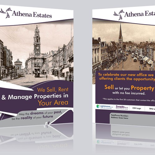 Traditional estate agent flyer