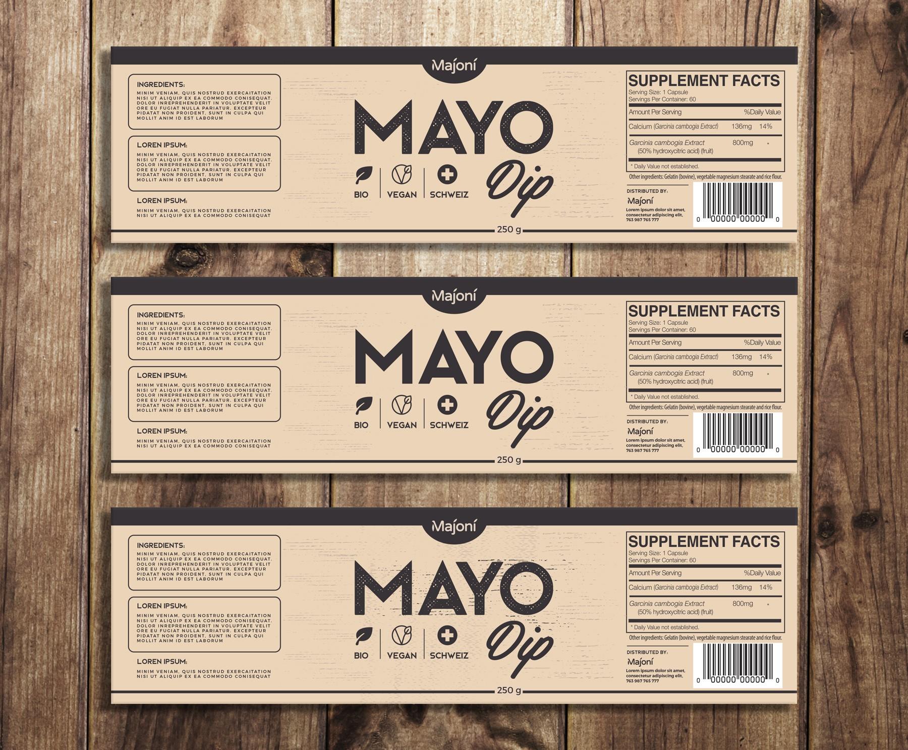 Product Design for an organic (potentially vegan) Mayo-Dip sauce