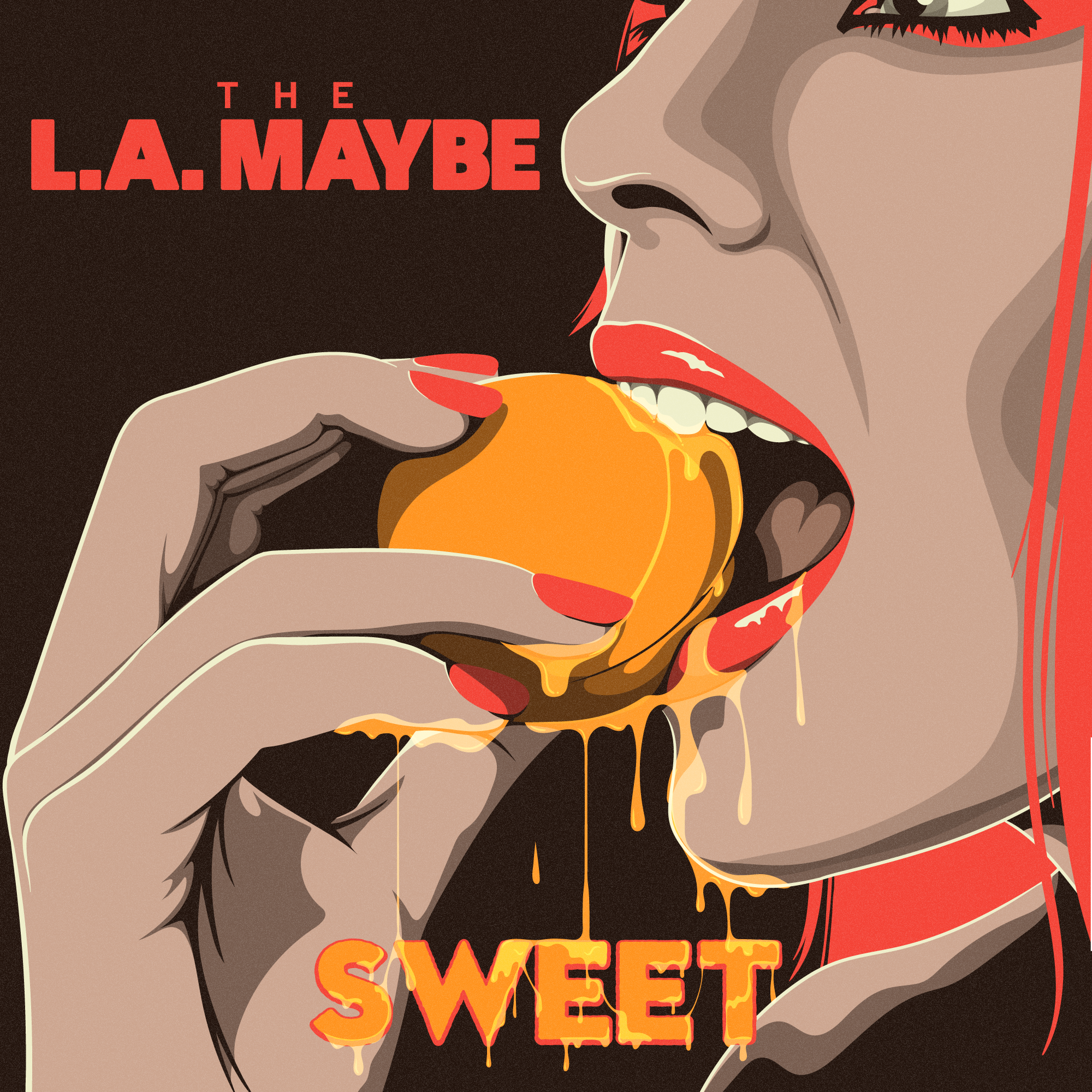 "The L.A. Maybe - ""Sweet"" T-shirt Design"