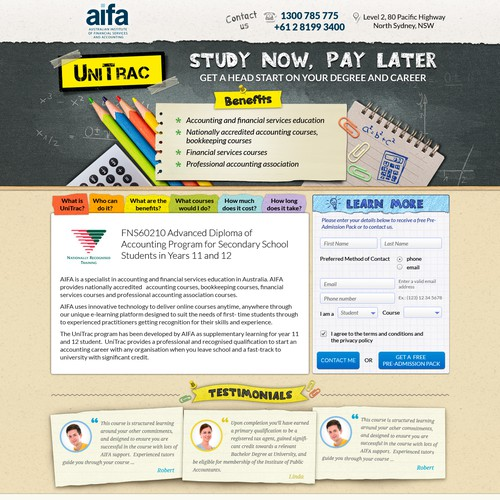 Help AIFA with a new website design