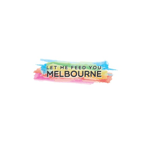 Create a fresh, youthful logo for food blog Let Me Feed You Melbourne!