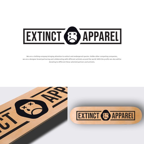 Sad Gorilla Logo for Extinct Apparel