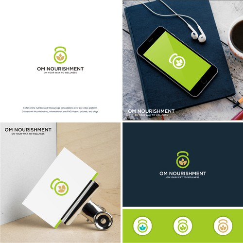 simple and modern logo for OM NOURISHMENT