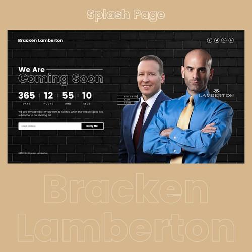 Splash Page design for Law Company