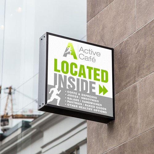 Active Cafe Signage
