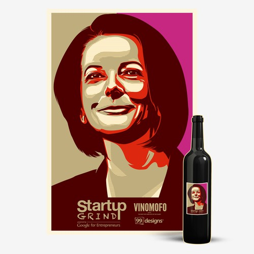 AUS Prime Minster Wine Label Design