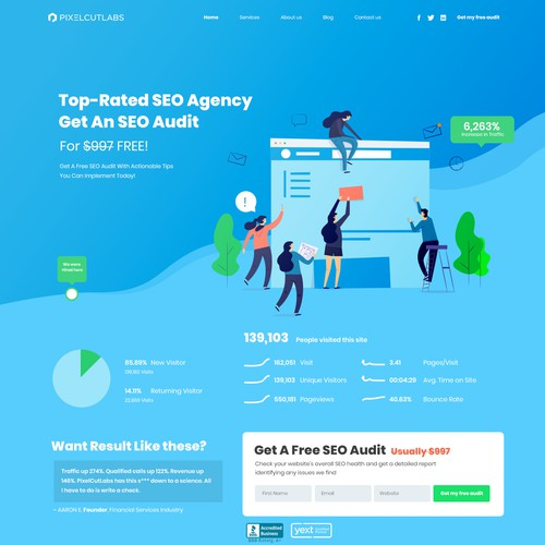 SEO Landing page For marketing website