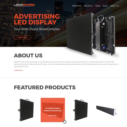 Electric Company Homepage Design