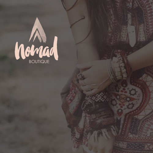Create a brand identity for Nomad Boutique