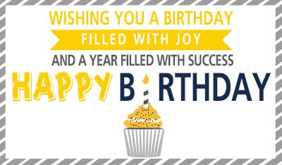 Design a happy birthday eCard - from a business, to their customer