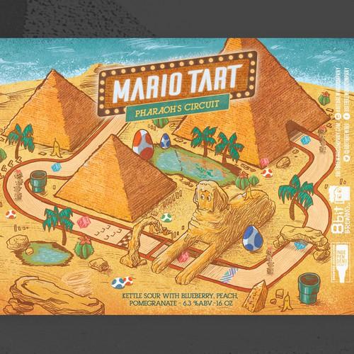 mario tart 8bit-pharaoh circuit