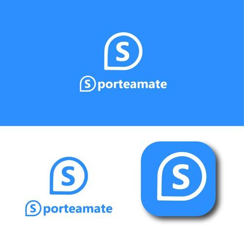 Dynamic positive logo for a team sports app