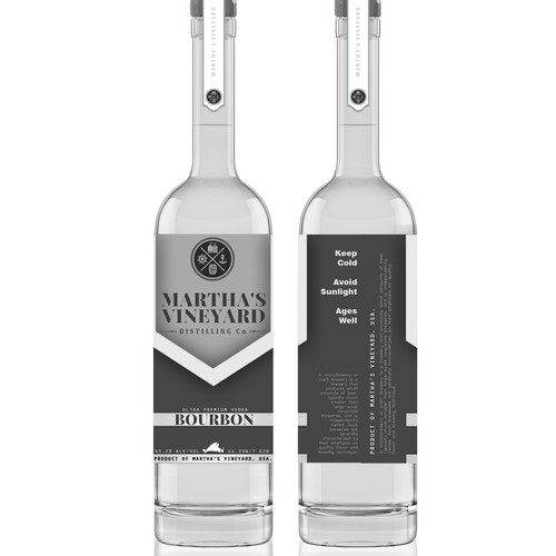 Design BOURBON label for Marthas Vineyard Distilling Company