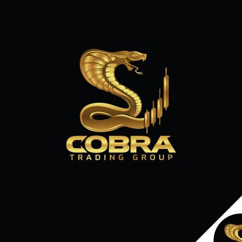 Strong Cobra Logo for stock market.