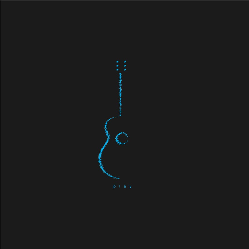 Turn this simple guitar design into an icon.