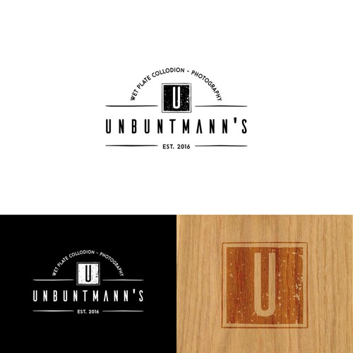 Old school yet modern logo for Untbuntmann's