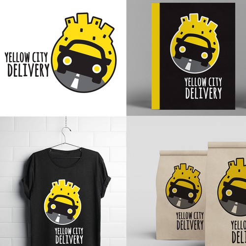 Yellow City Delivery Logo