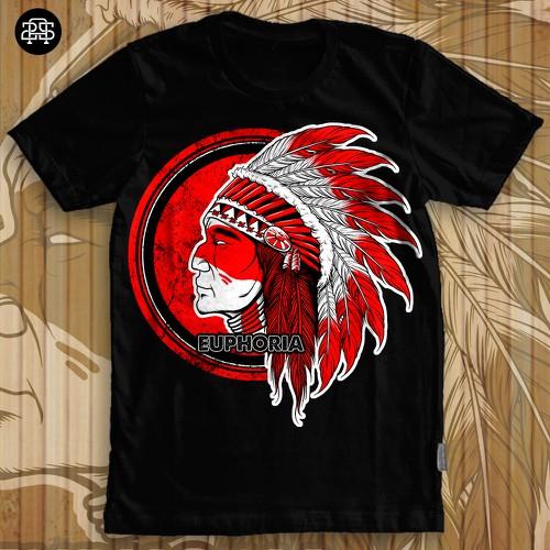 Euphoria - Native indian tshirt design