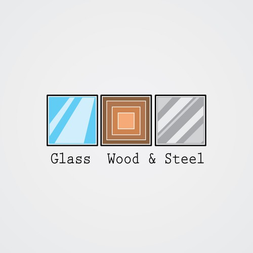 Logo Design | Glass wood & steel