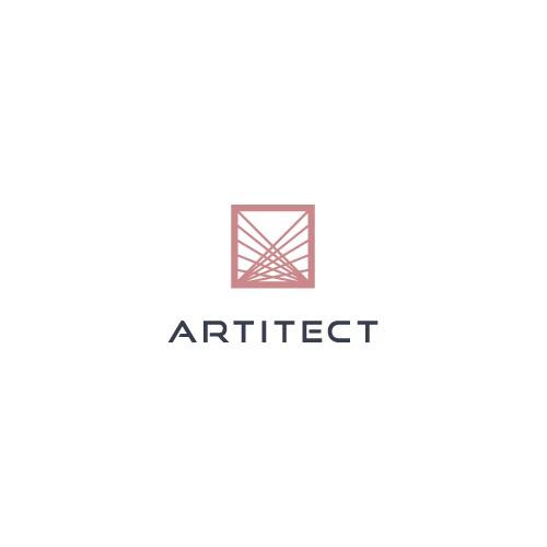 Logo design for Artitect, a  modern interior design and real estate firm.