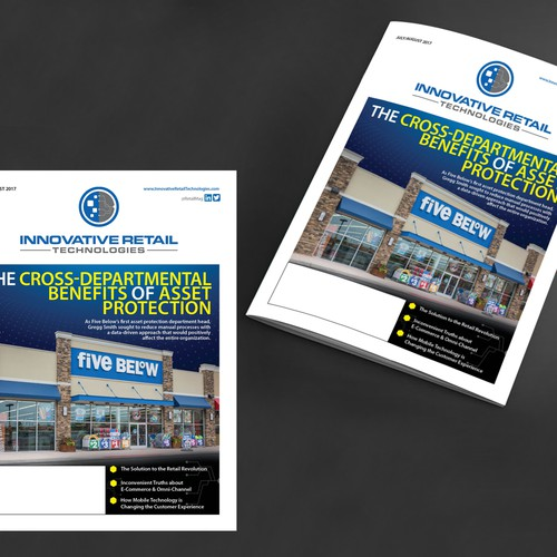 cover design for innovative magazine