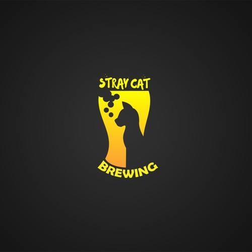 Logo concept for Stray Cat Brewing.