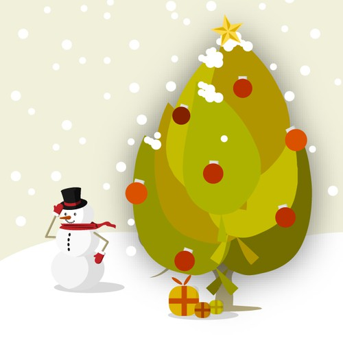 x mas card for the environment