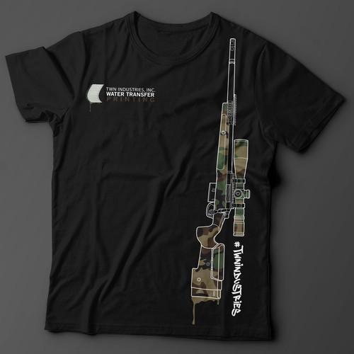 Design a Badass Gun Tee for Top Hydro Dipping Company