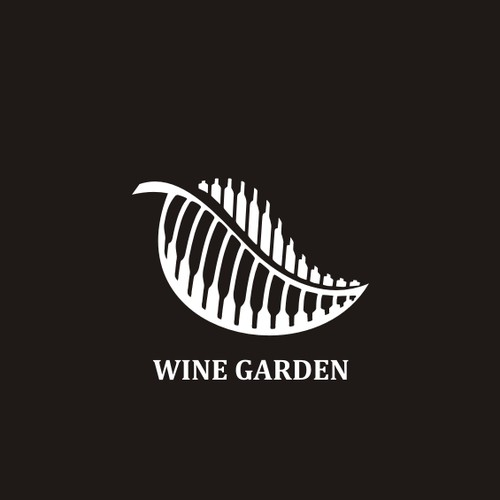 logo concept for wine garden