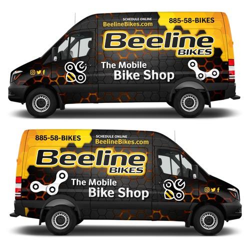 Honeycomb Bike Shop Van