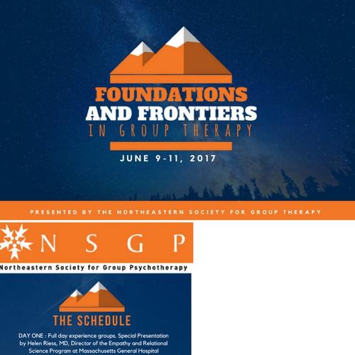 Postcard invitation design for a Conference