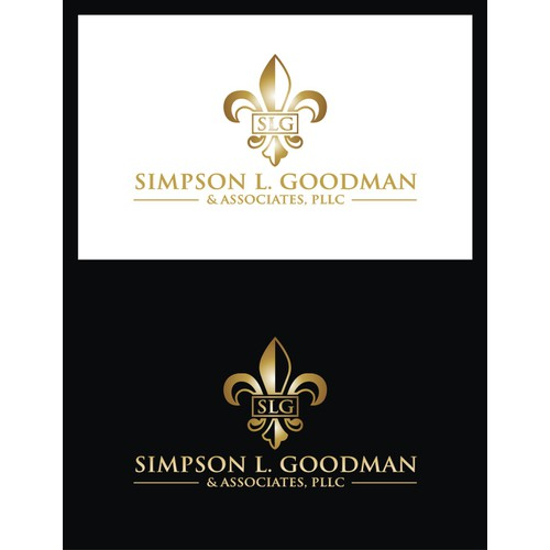 Immigration Law Firm logo using SLG initials and/or Fleur de Lis