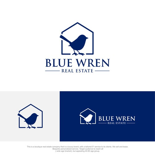 Luxury Hamptons style logo design for Real Estate Business