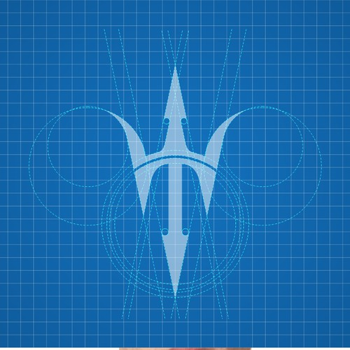 T LETTER LOGO WITH TRIDENT