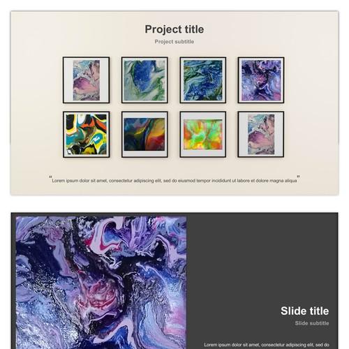 Presentation concept for an art exhibition