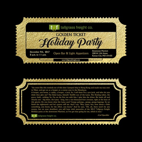 Golden Ticket Holiday Party
