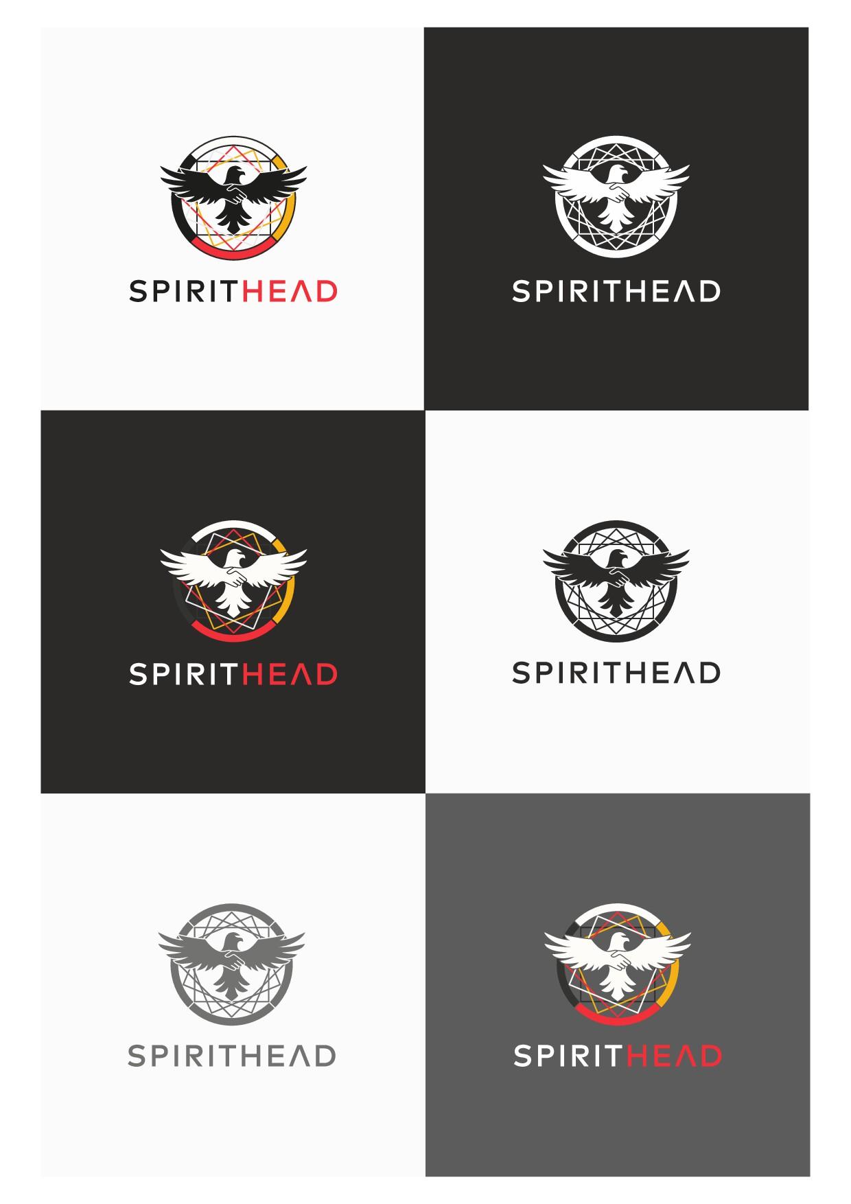 Design a strong spiritual native logo for Spirit Head