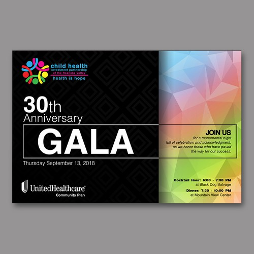 30th Anniversary Gala Invitation
